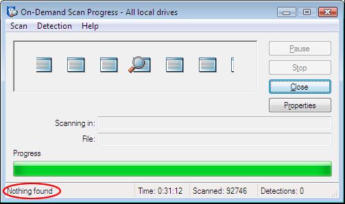 Faça um scan completo em todos os sistemas